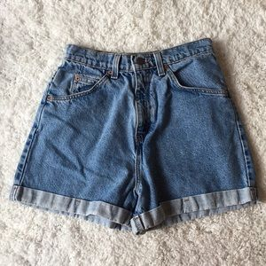 Levi's 954 Vintage High Waisted Cuffed Jean Shorts